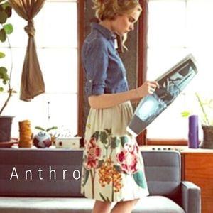 Anthropologie Meadow Rue blooming skirt